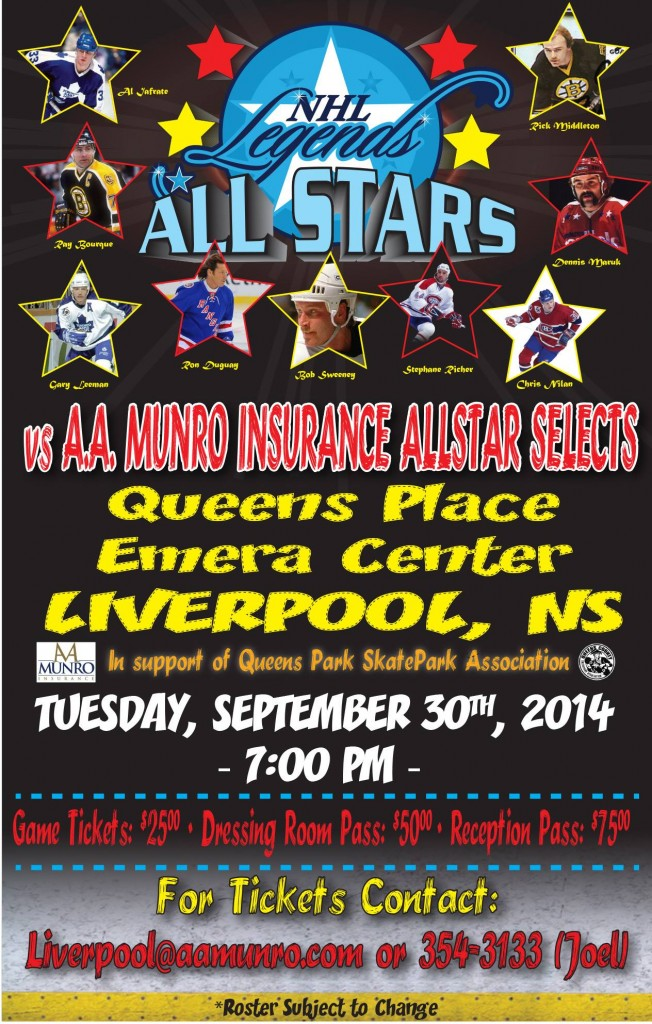 NHL Legends All Stars event poster