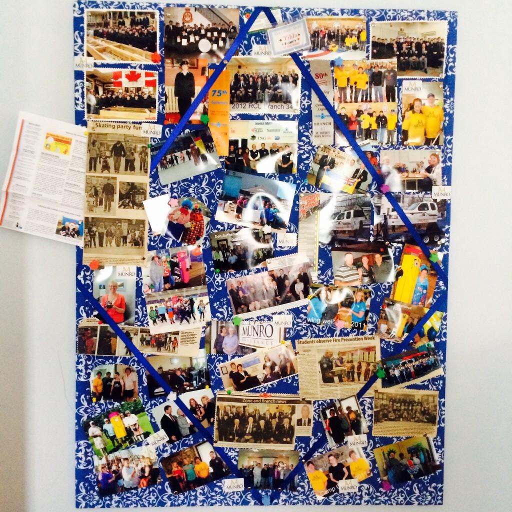 Tilda's collage bulletin board