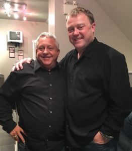 Ian MacLeod and Chris Jones at the Truro Clubhouse