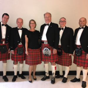 James Kerr in a kilt with AA Munro