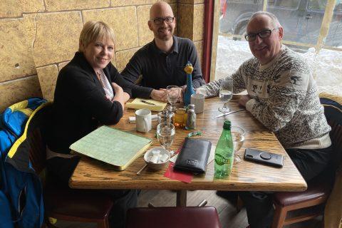 Tracey LaTulippe, Angus MacCaull & Wayne Ezekiel with Charlie